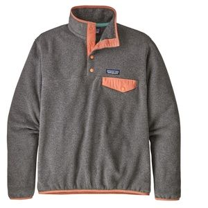 Patagonia Snap-T Pullover Nickel/Peach Sherbert L